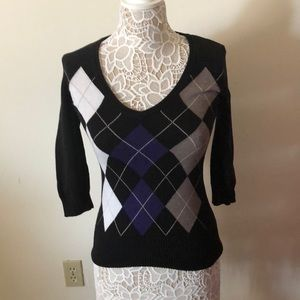 Adorable argyle print sweater